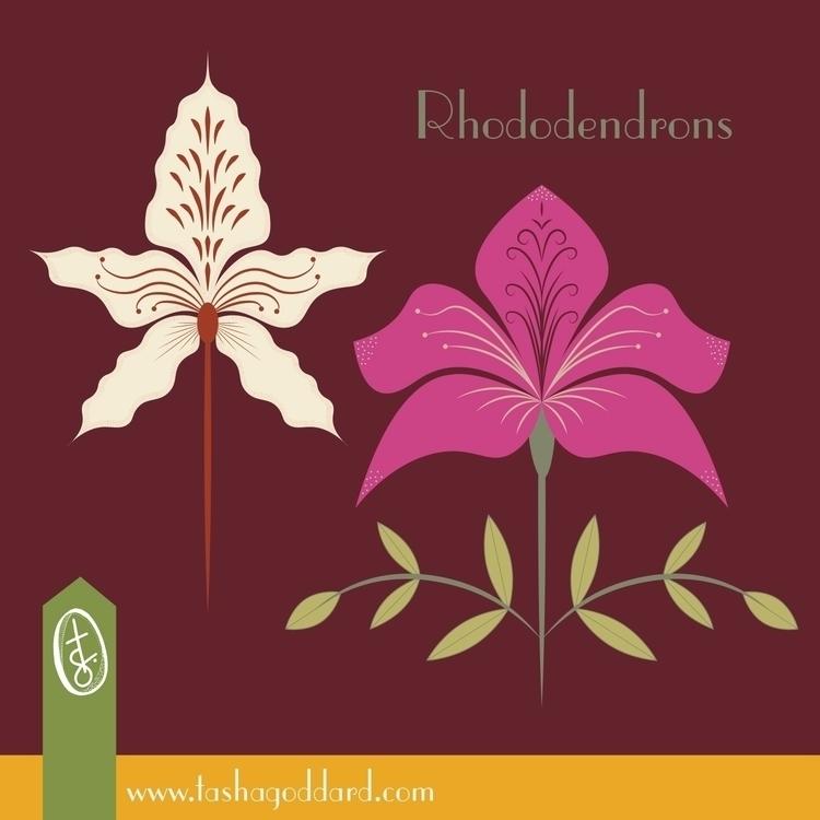 Rhododendron Island Floral repe - tashagoddard   ello