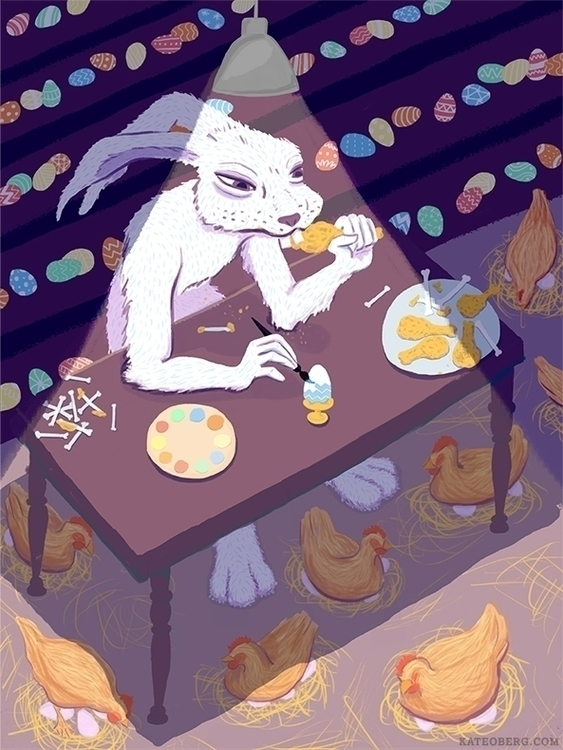 Easter season: eating chicken p - kateoberg | ello