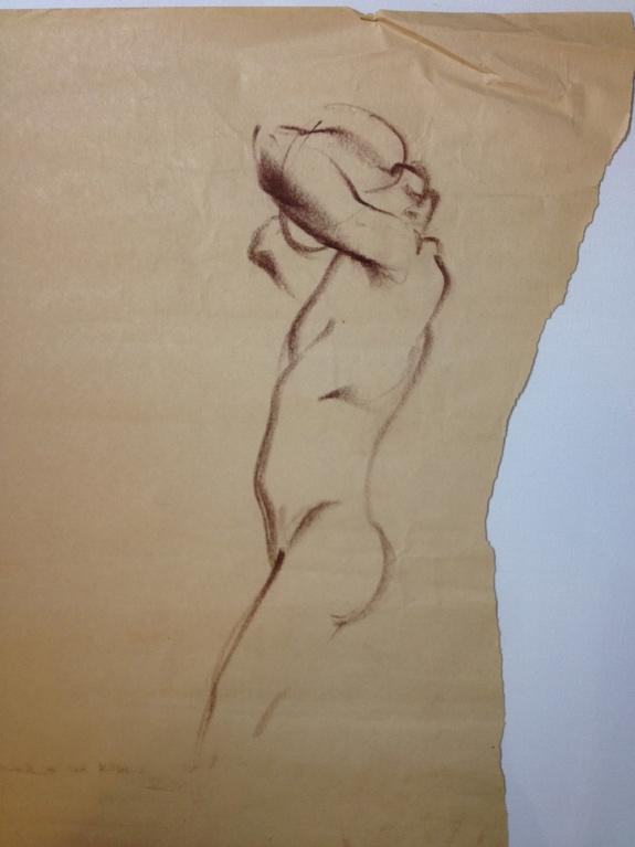 Gesture Drawing: Figure 1 Conté - terrebritton | ello