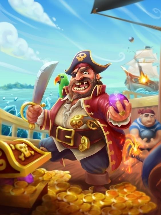 Yo Ho Pirates - illustration, painting - adman2808 | ello