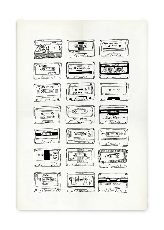 Cassettes - Ilustration, Draw, Handmade - pblogom | ello