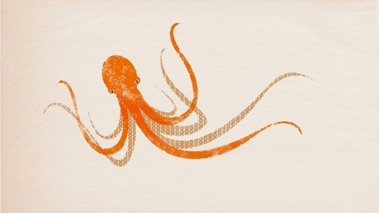 octopus, illustration - scottwenner | ello