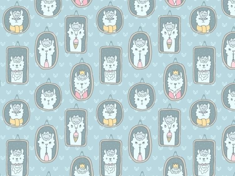 Llamas - llamas, pattern, patterndesign - annaalekseeva | ello
