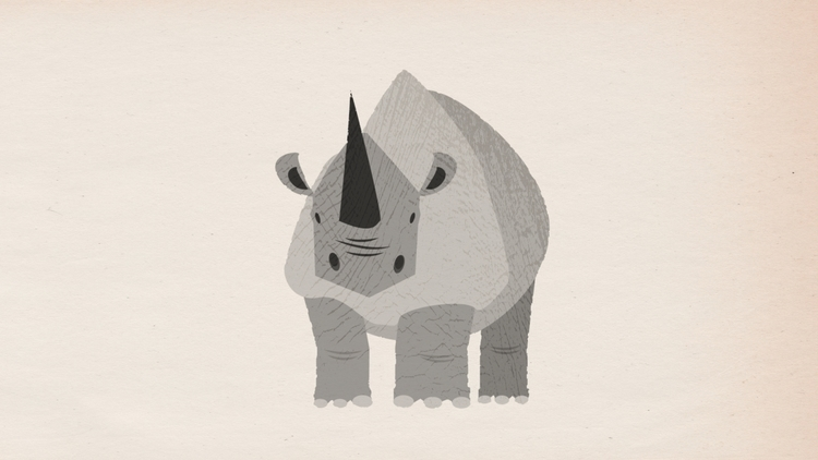 rhino, illustration - scottwenner | ello