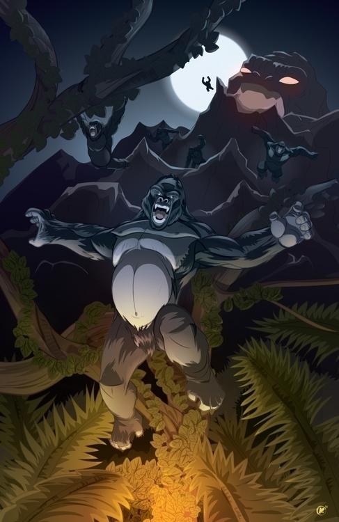 created adobe illustrator - gorilla - universek-1349 | ello