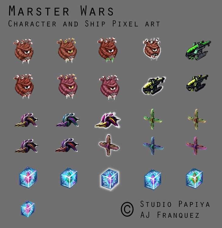 Pixel Designs Marster Wars - pixel - fishfranqz | ello