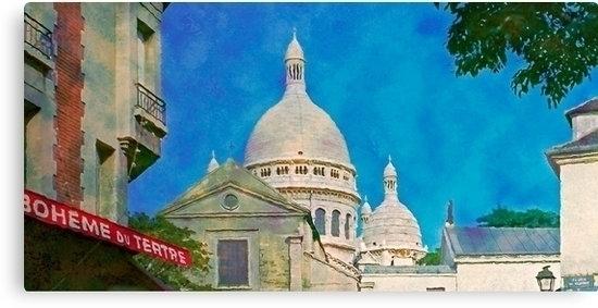 Paris view, Montmartre basilica - leo_brix   ello