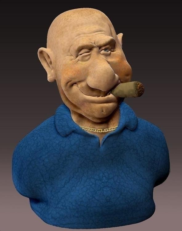 Enforcer... digital sculpt - zbrush - nate-1924 | ello