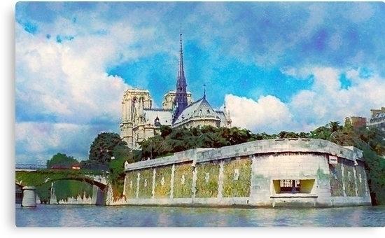 Paris view, ile de la cite cath - leo_brix | ello