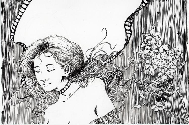 Unfortunate beautiful. Day 1 - illustration - paltamayo | ello