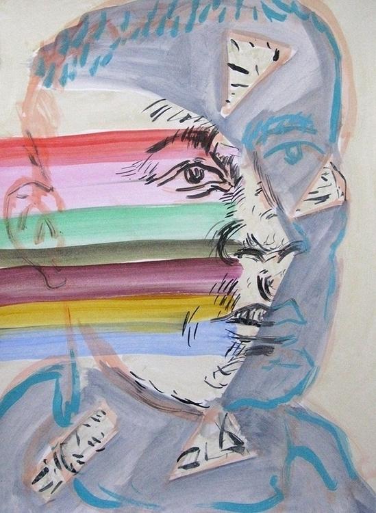 Jeane acrylic paper 2015 - portrait - frankcreber | ello