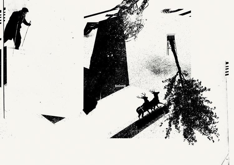 monohed - play black white - illustration - kopfsprung-4141 | ello