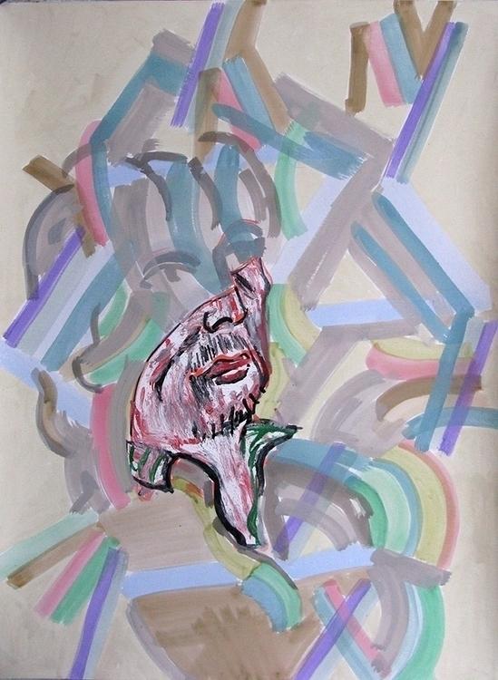 Marc acrylic paper 2015 - portrait - frankcreber | ello