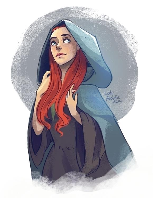 commissioned art Sansa Stark Ga - ladyalouette | ello