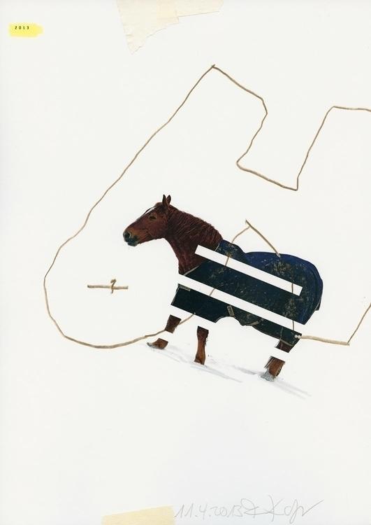 future - collage, horse, art, collage - kopfsprung-4141 | ello