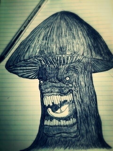 Infected Mushroom - Fan Art - illustration - antoniovc | ello