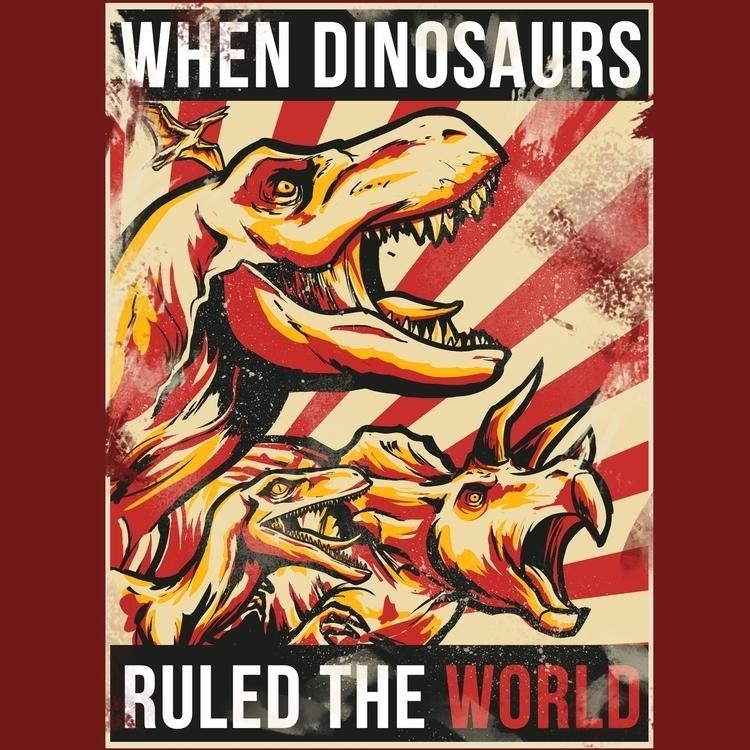Jurassic Propaganda - illustration - juanfoo | ello