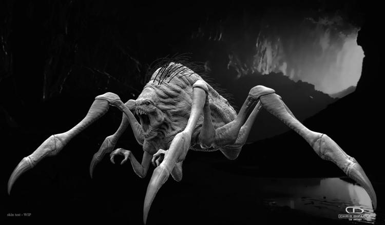 Arachnid / Creature sketch [WIP - chrisdipaola | ello