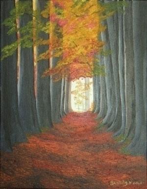 Autumn Path - painting - brandyhouse | ello