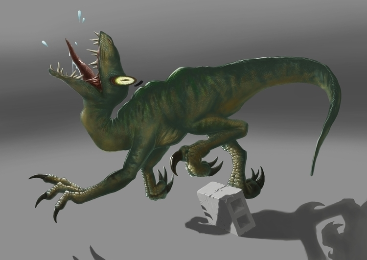 Raptor Jump Cinderblock - raptor - siberian_sweaters   ello