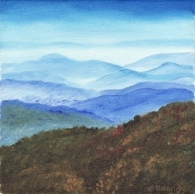 Blue Ridge - painting - brandyhouse | ello