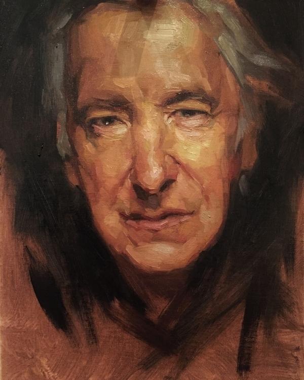 Alan Rickman - sketch, allaprima - jen_art | ello