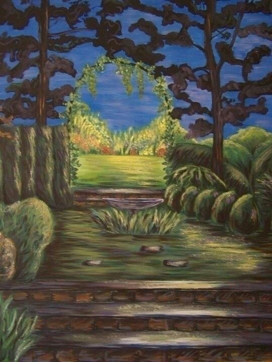 Garden - painting, garden, acryliconcanvas - michele-1314 | ello