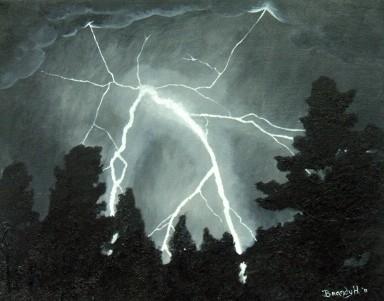 Lightning - painting - brandyhouse | ello