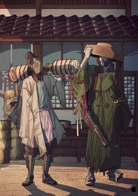 Cymourai - cyberpunk, samourai - edgy-8315   ello