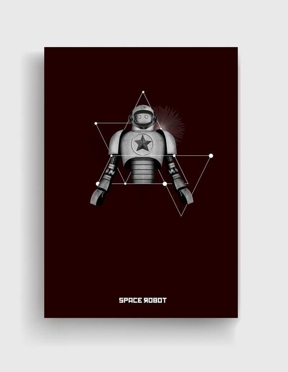 space robot - spacerobot, retro - cardula   ello