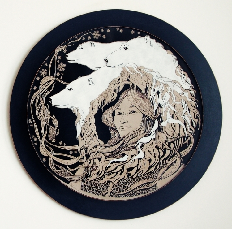 Polar Nights - illustration, ink - ioanaz | ello