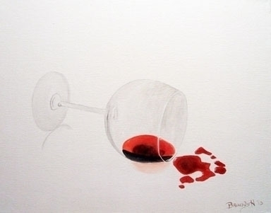 Spilled Wine - painting - brandyhouse | ello