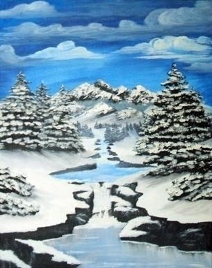 Winter - painting - brandyhouse   ello