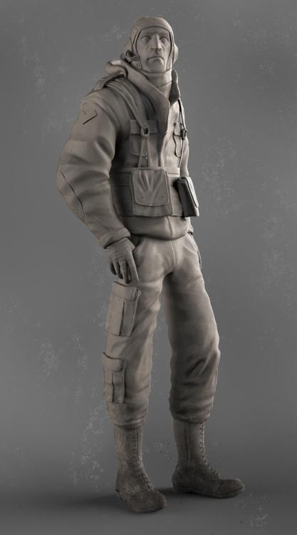 Pilot - 3d, gameart, characterdesign - baratha | ello