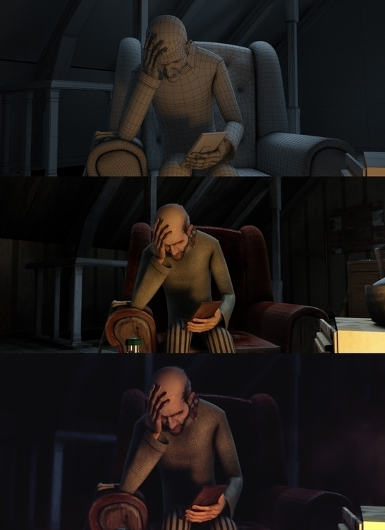 Oldman Pattern - animation, characterdesign - baratha   ello