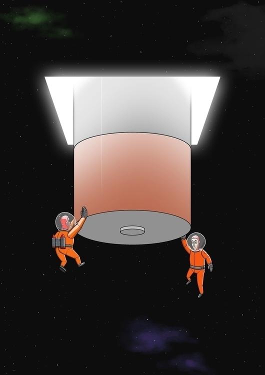 Universal Battery - space, sci-fi - odddino | ello