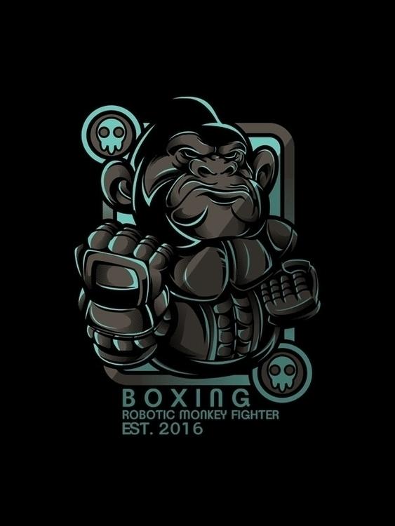 Boxing Series - 4, vector, characterdesign - badsyxn | ello