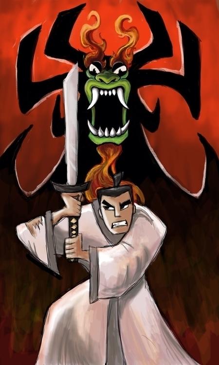 Jack Aku - SamuraiJack, Cartoonnetwork - justinoden | ello
