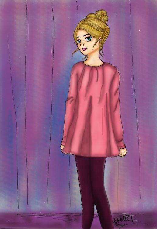 Romantic - drawing, illustration - hanjeri | ello