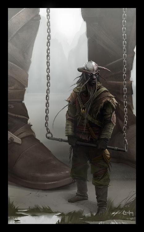 Giant Thief - conceptart, characterdesign - caitlinyarsky | ello