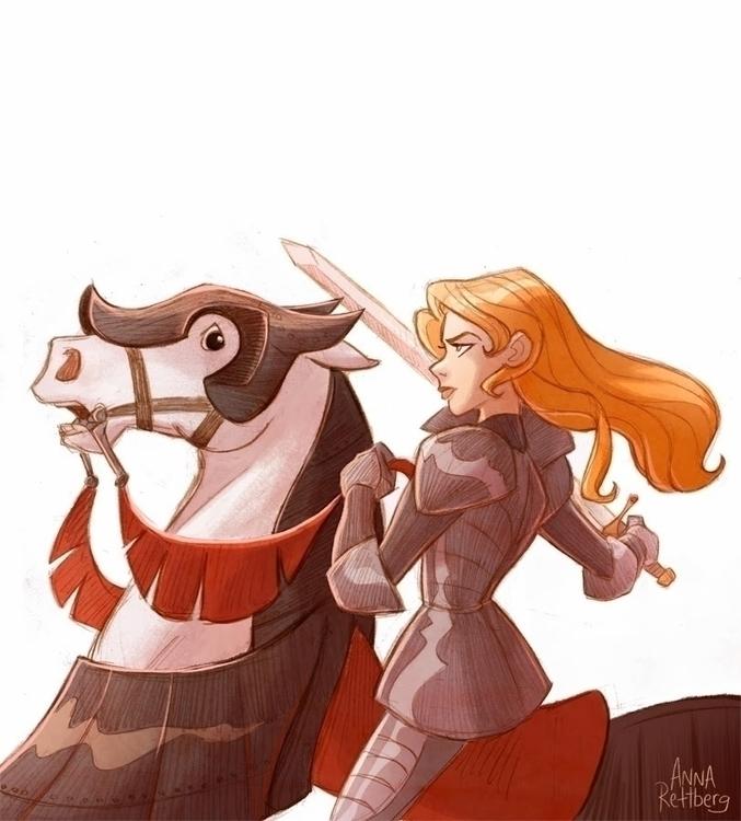 Joan Arc - illustration - aerettberg | ello