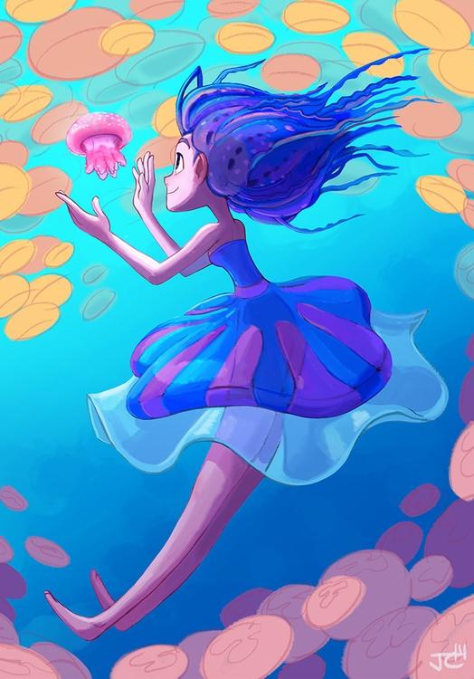 Jellyfish - jellyfish, girl - justinchan-1699 | ello
