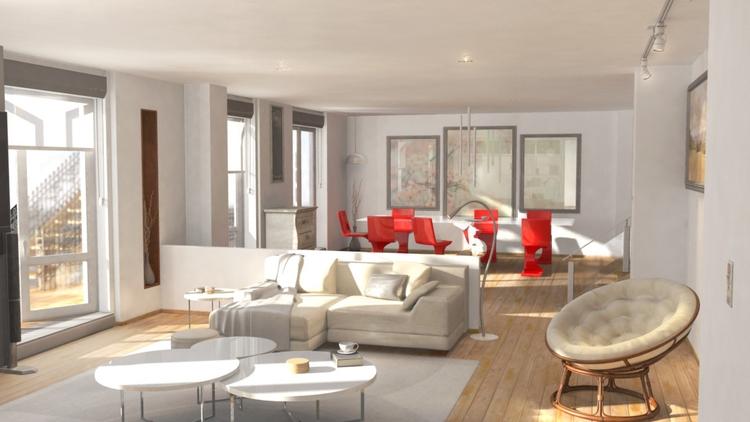 Modern apartment Maya Photoshop - 3dbell | ello