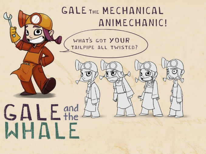 Gale Whale- GALE - characterdesign - caitlinyarsky | ello