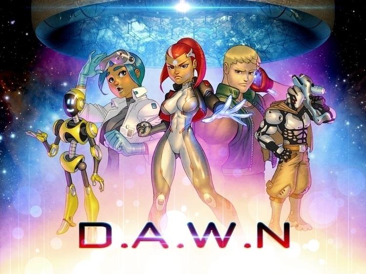 project Dawn  - illustration, sciencefiction - sykosan | ello
