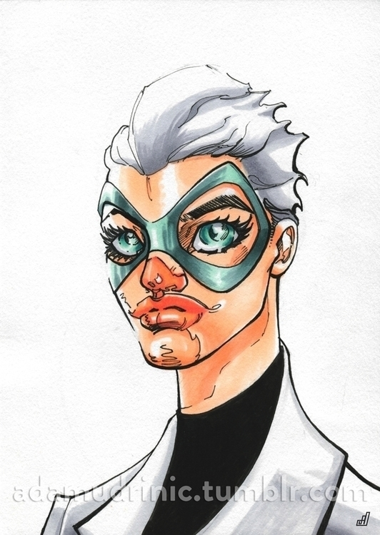Masked Heroine - illustration, characterdesign - admd-1177 | ello