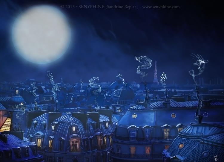 roofs Paris Illustration upcomi - senyphine | ello