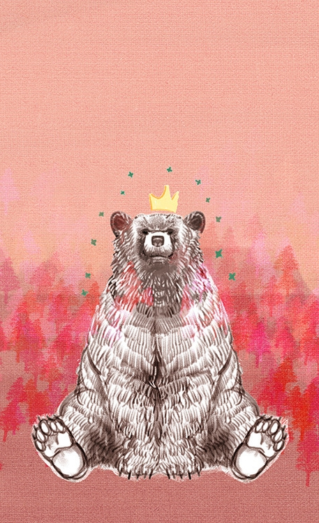 happy bear - illustration, painting - soso-6104 | ello