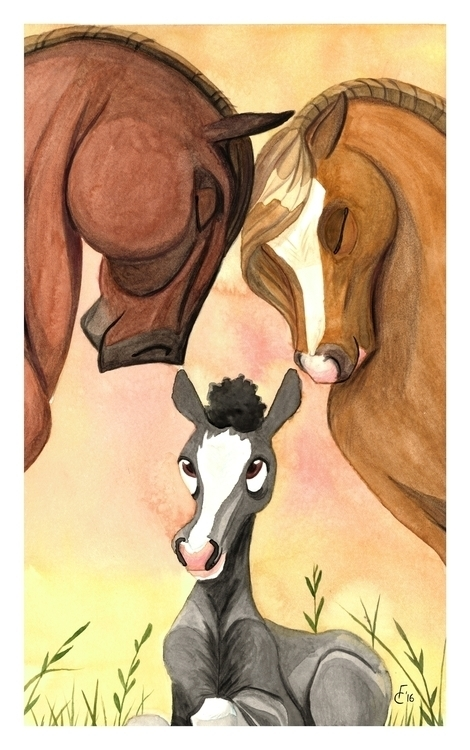 Family - illustration, painting - finbarcoyle | ello