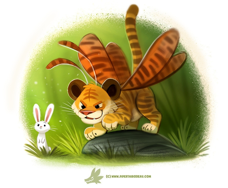 Daily Paint Tiger Moth - 1225. - piperthibodeau   ello